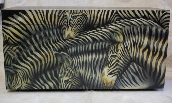 baú zebras frente